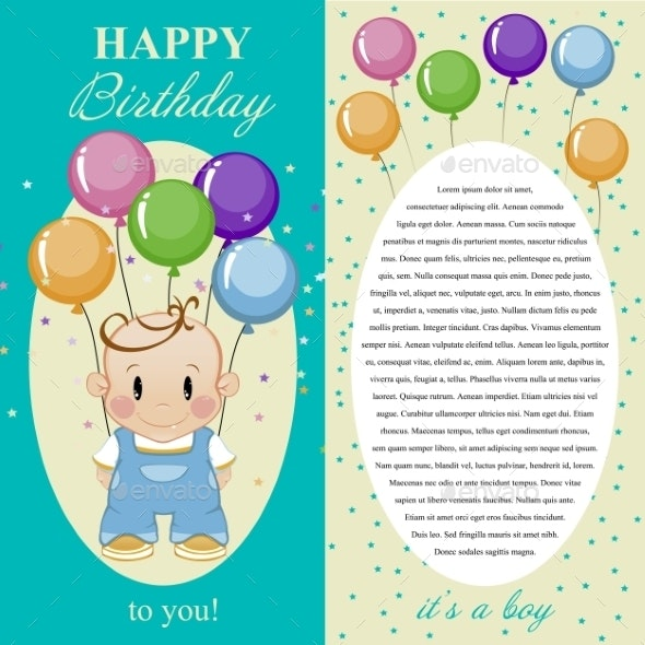 Happy Birthday To You. Gift Card, Note For The Boy - Birthdays Seasons/Holidays