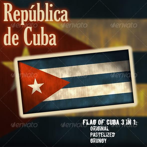 Flag of Cuba - Objects Illustrations