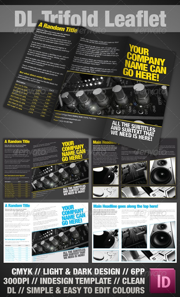 Trifold Leaflet - InDesign - Corporate Brochures