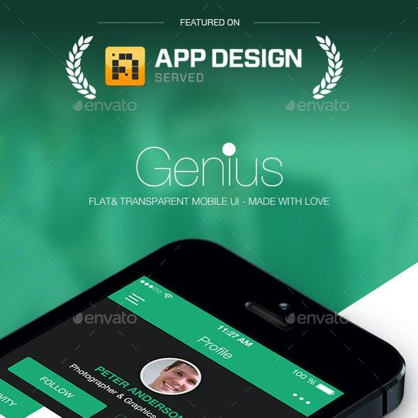 Genius Flat & Transparent Mobile Ui