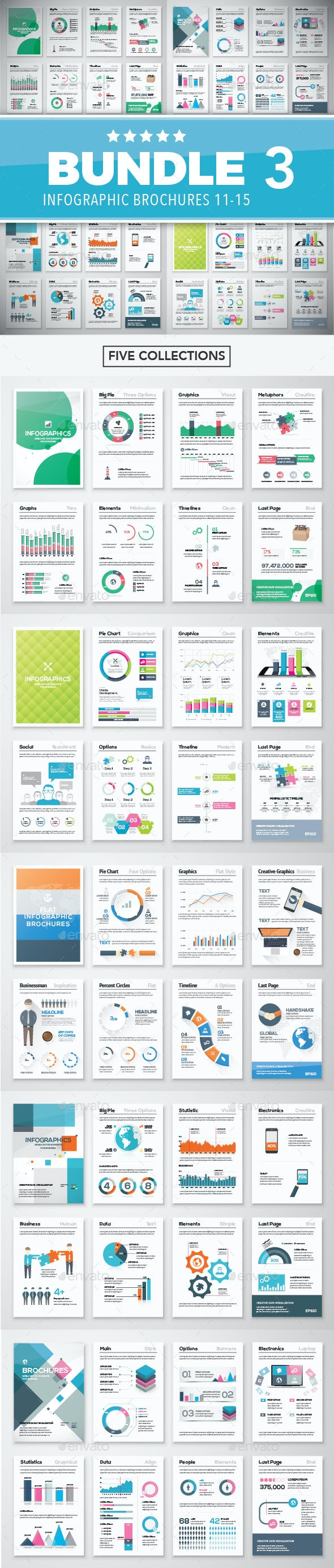 Infographic Brochure Elements Bundle 3 - Infographics