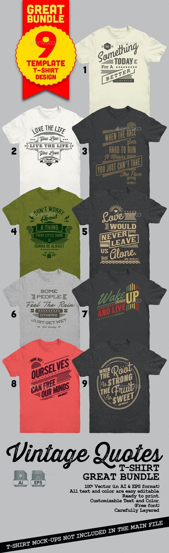 Vintage Quotes T-Shirt Bundle by tiarprayoga | GraphicRiver