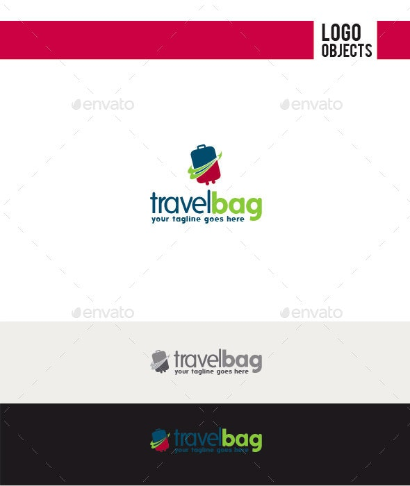 Travel Bag Logo - Objects Logo Templates