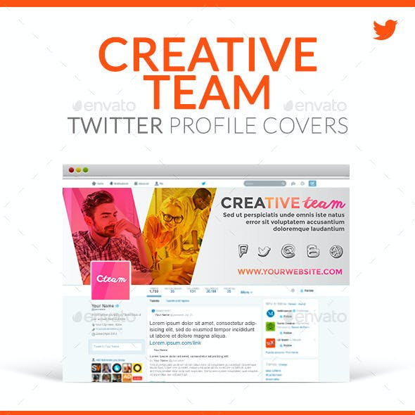 Twitter Profile Covers - Creative Team