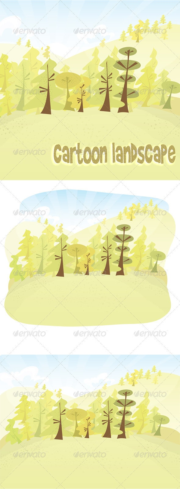 Vector cartoon forest - Nature Conceptual