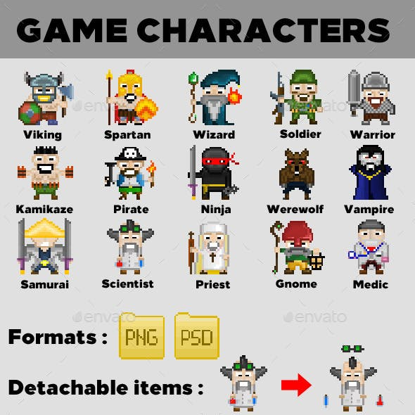 15 Game Characters | Vol. 1