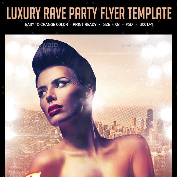 Luxury Rave Party Flyer Template