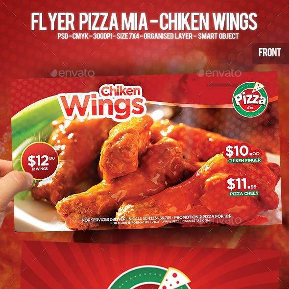 Flyer Pizza Mia - Chiken Wings