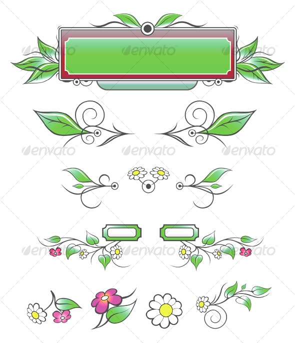 Natural Decorative Elements - Decorative Symbols Decorative