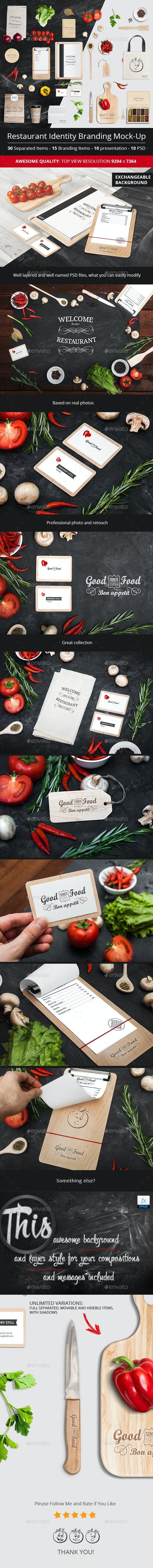 Restaurant Identity Branding Mock-Up - Miscellaneous Product Mock-Ups