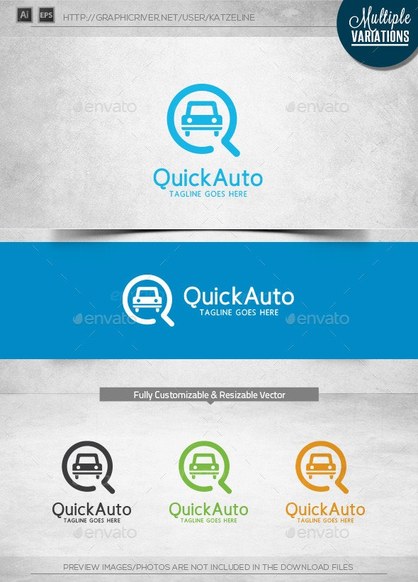 Quick Auto - Logo Template - Objects Logo Templates