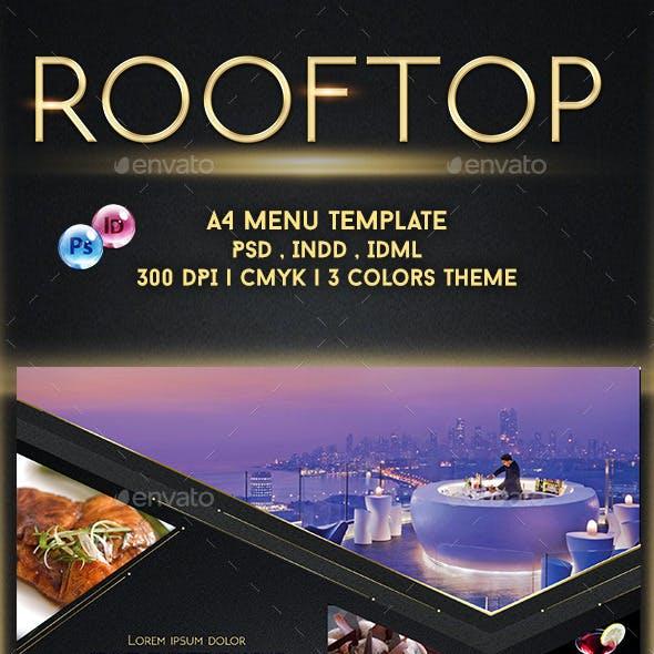 Rooftop Menu Template