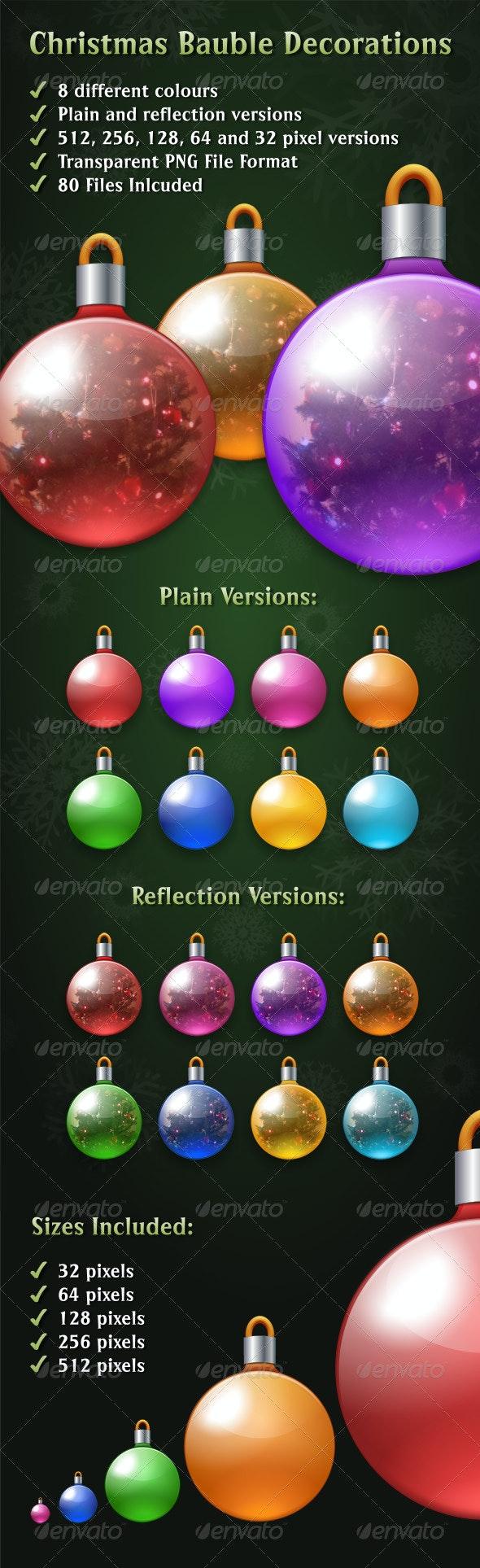 Christmas Bauble Decorations - Seasonal Icons