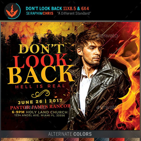Don't Look Back Church Flyer Template
