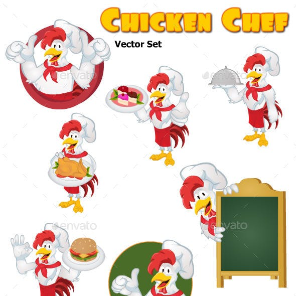 Chicken Chef Vector Set