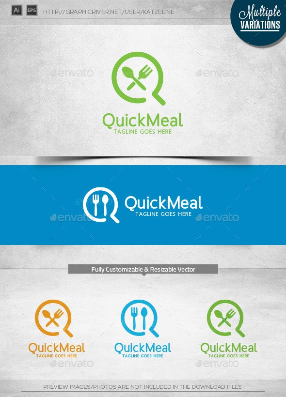 Quick Meal - Logo Template - Objects Logo Templates