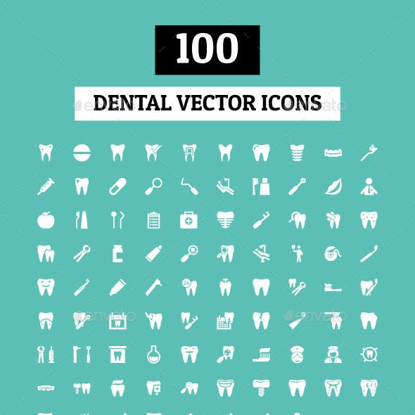 100 Dental Vector Icons
