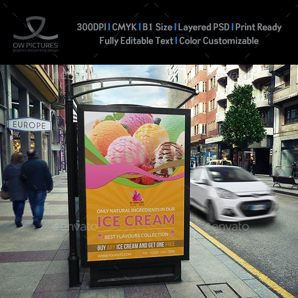 Ice Cream Poster Template Vol.3