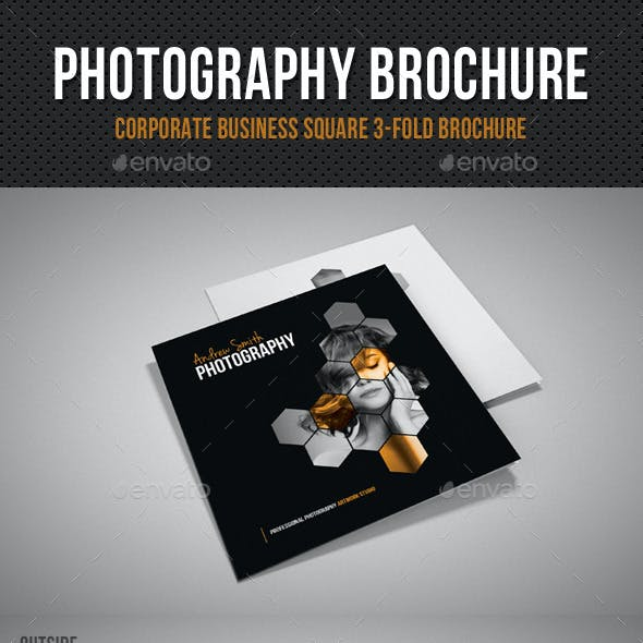 Photography Studio Square 3-Fold Brochure V01