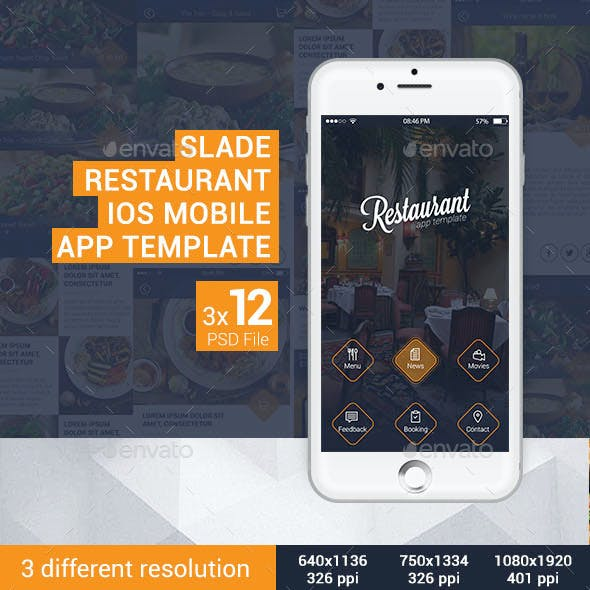 Slade Restaurant iOS Mobile App Template