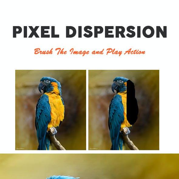Pixel Dispersion Photoshop Action
