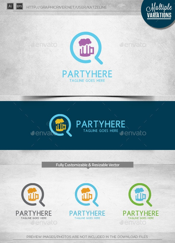 Party Finder - Logo Template - Objects Logo Templates