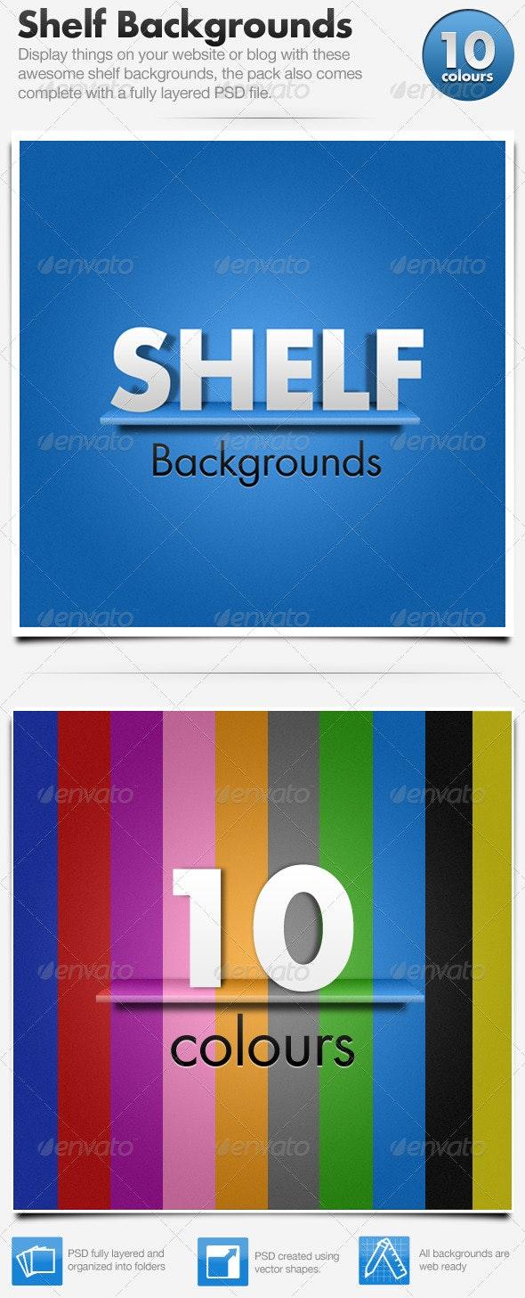 Shelf Backgrounds x10 - Backgrounds Graphics