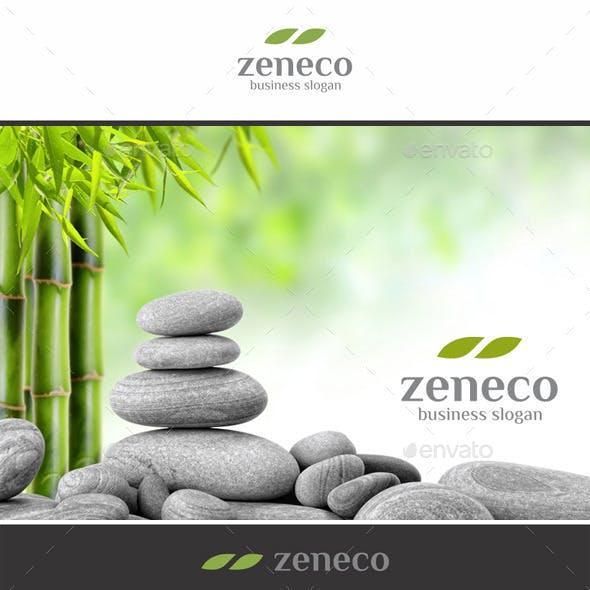 Zen Eco Nature Leaf Logo
