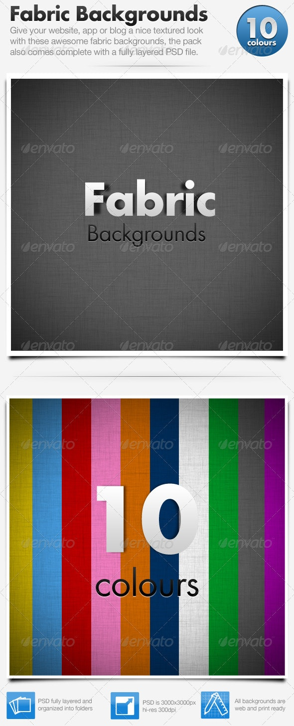 Fabric Backgrounds x10 - Fabric Textures