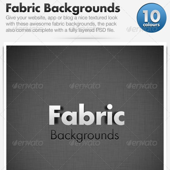 Fabric Backgrounds x10