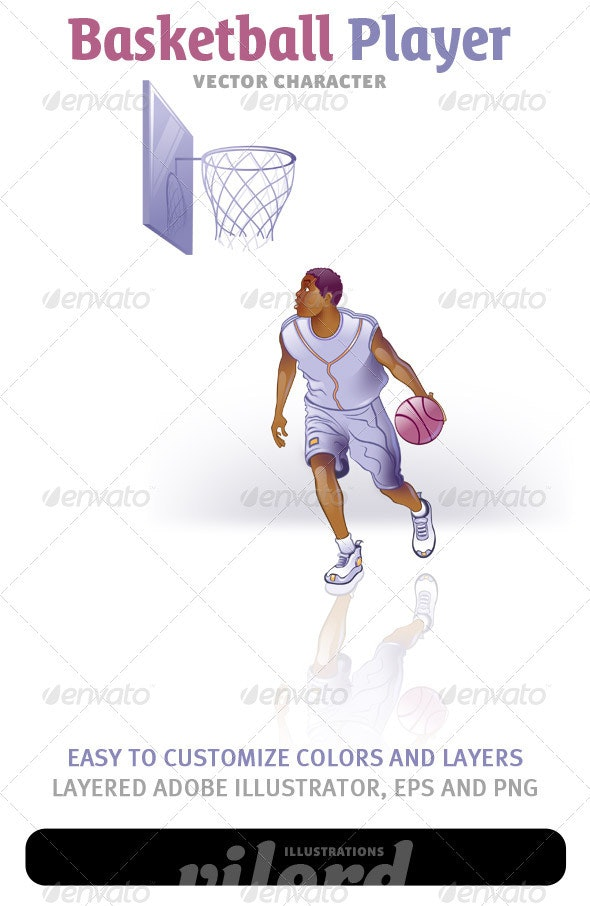 Basketball Player Vector - People Characters