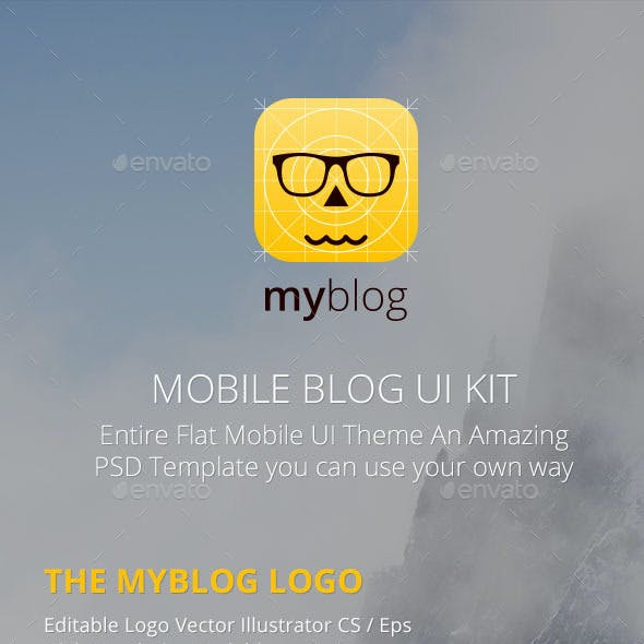 Blog Mobile UI Template