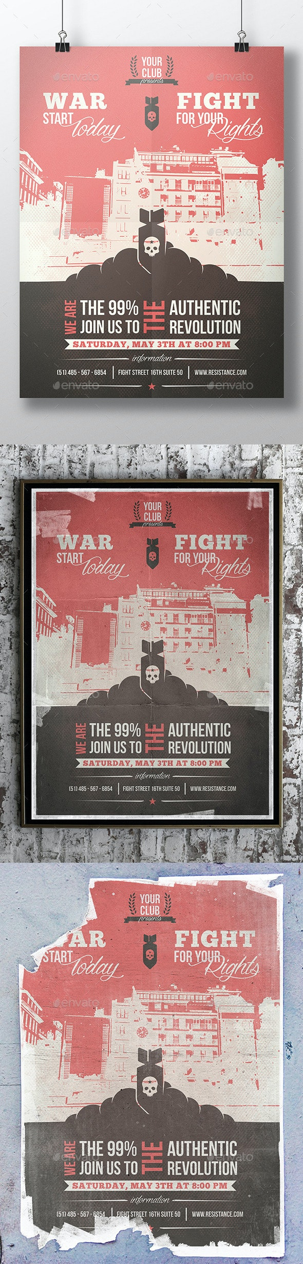 World War Flyer Template - Miscellaneous Events