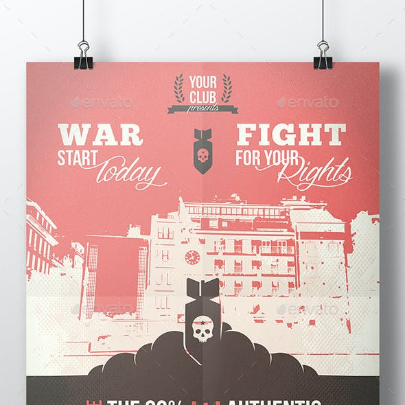 World War Flyer Template
