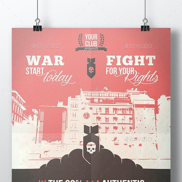 World War Flyer Template