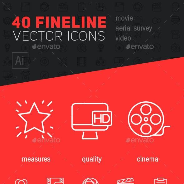 Fineline video icons