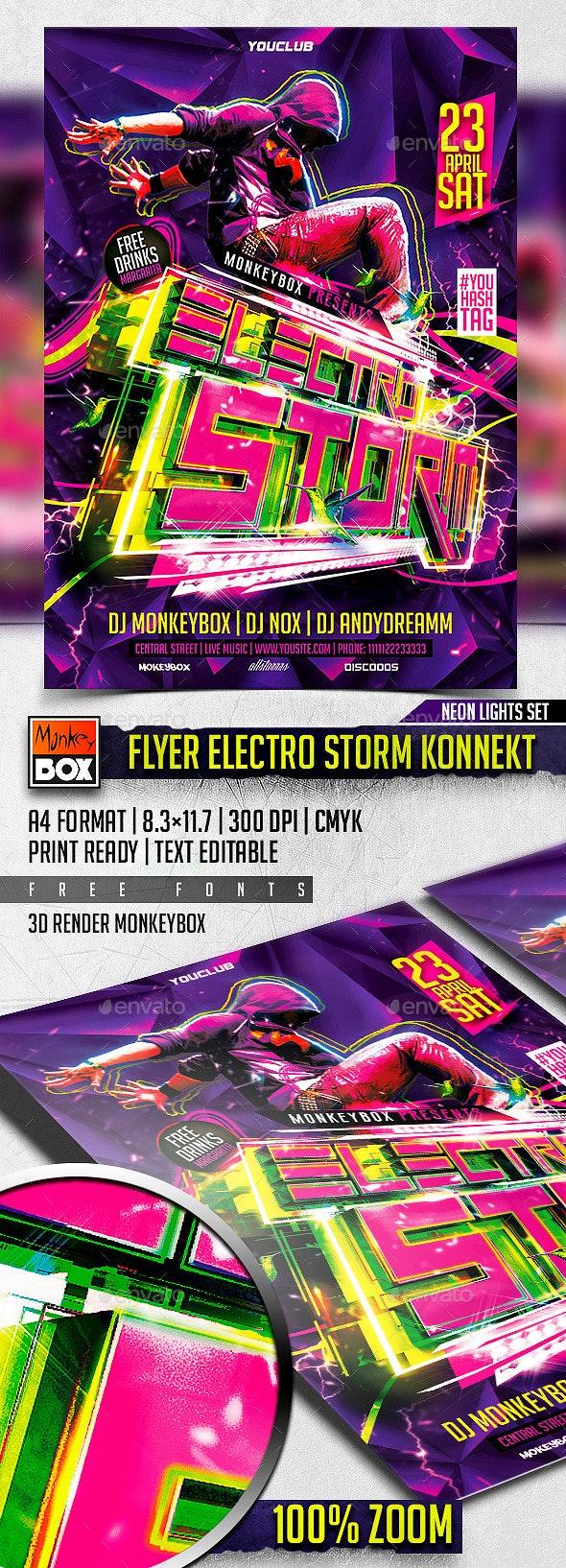 Flyer Electro Storm Konnekt - Clubs & Parties Events