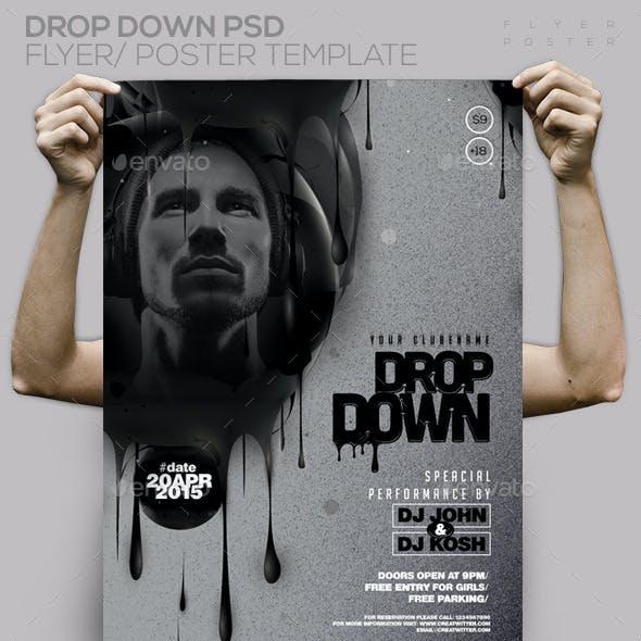 Guest Dj Drop Down PSD Flyer / Poster