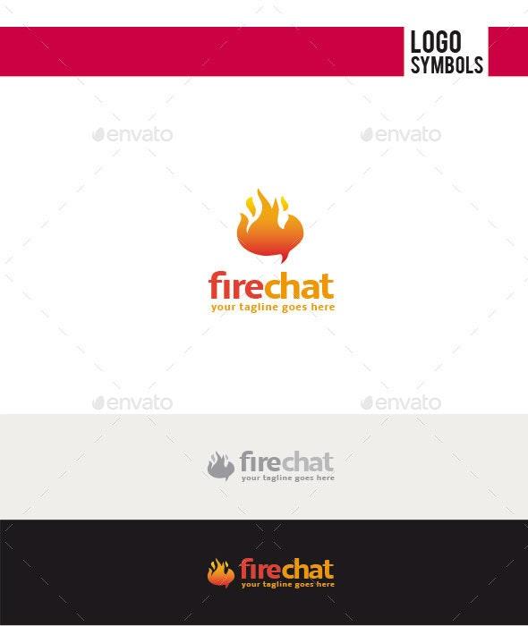 Fire Chat Logo - Symbols Logo Templates
