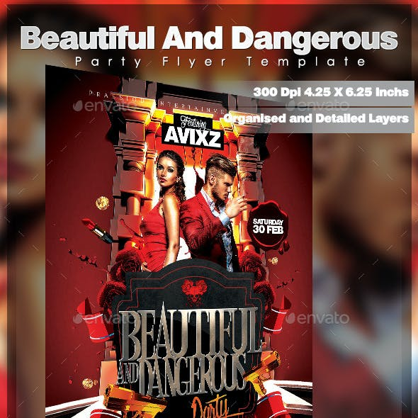 Beautiful And Dangerous Party Flyer Template