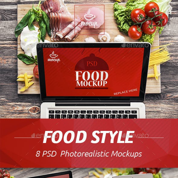 Food Styling PSD Mockup
