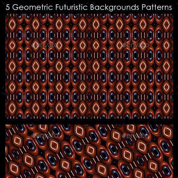 5 Geometric Futuristic Background Patterns