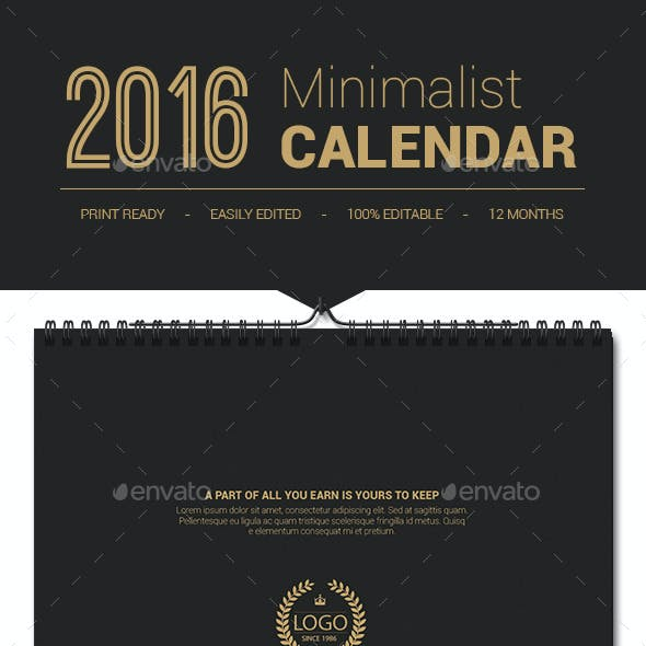 Printable Calendar 2016 Template