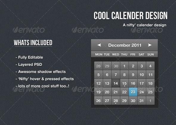 Cool Calendar Design - Tables Web Elements
