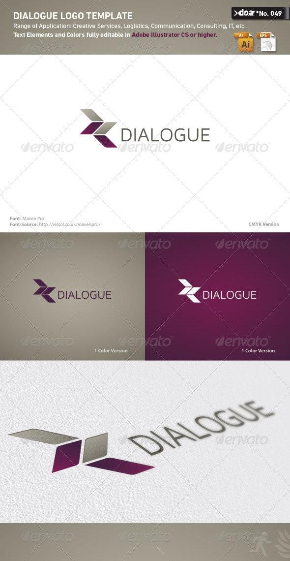 Dialogue Logo Template - Abstract Logo Templates