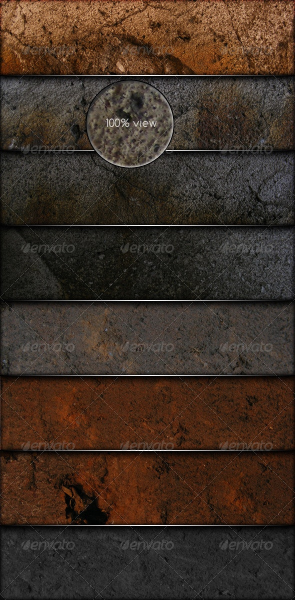 8 Grunge Textures with realistic look - Industrial / Grunge Textures