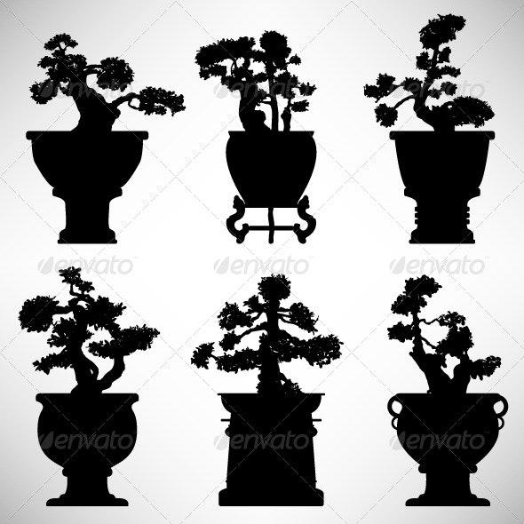 Bonsai Flower Plant Silhouette - Flowers & Plants Nature