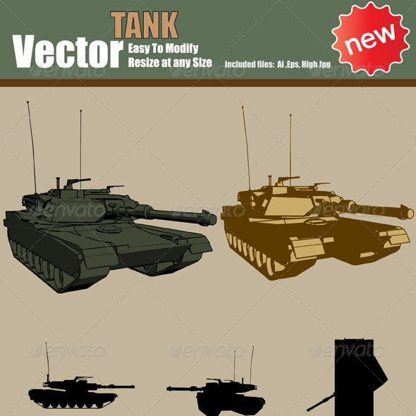 Vector Tank Silhouette Set