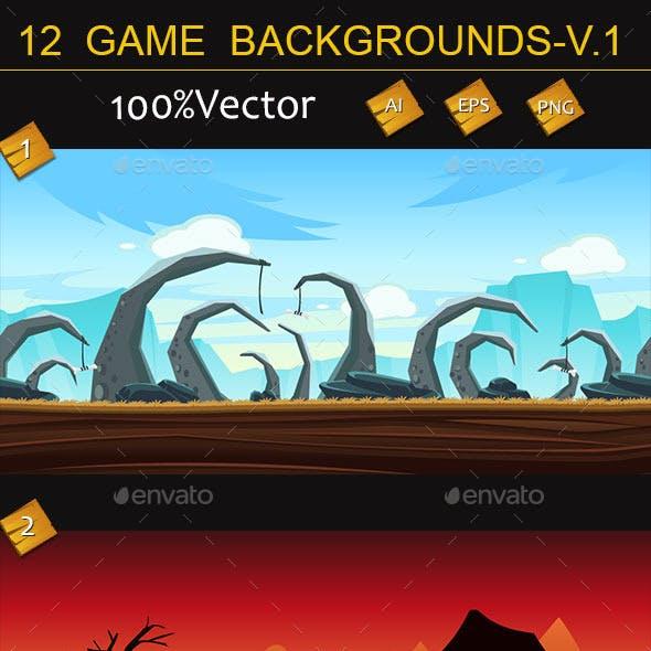12 game backgrounds-v.1