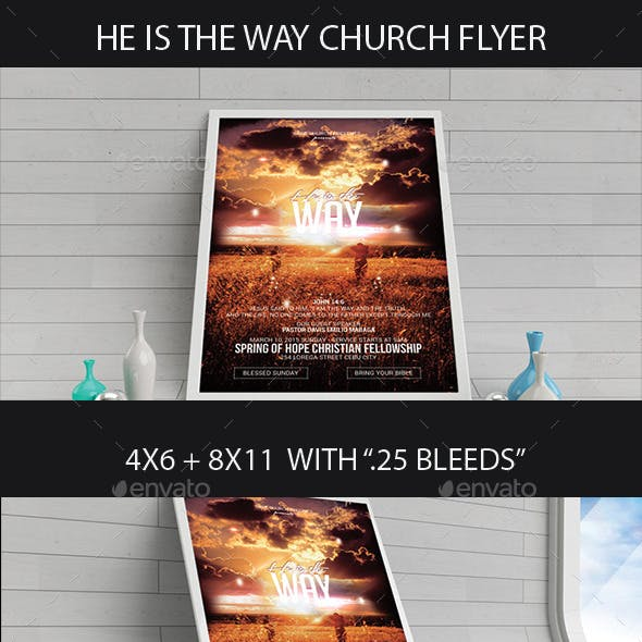 He Is The Way Church Flyer